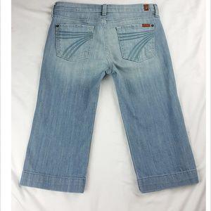 7 for All Mankind Denim Dojo Bermuda Crop Jeans